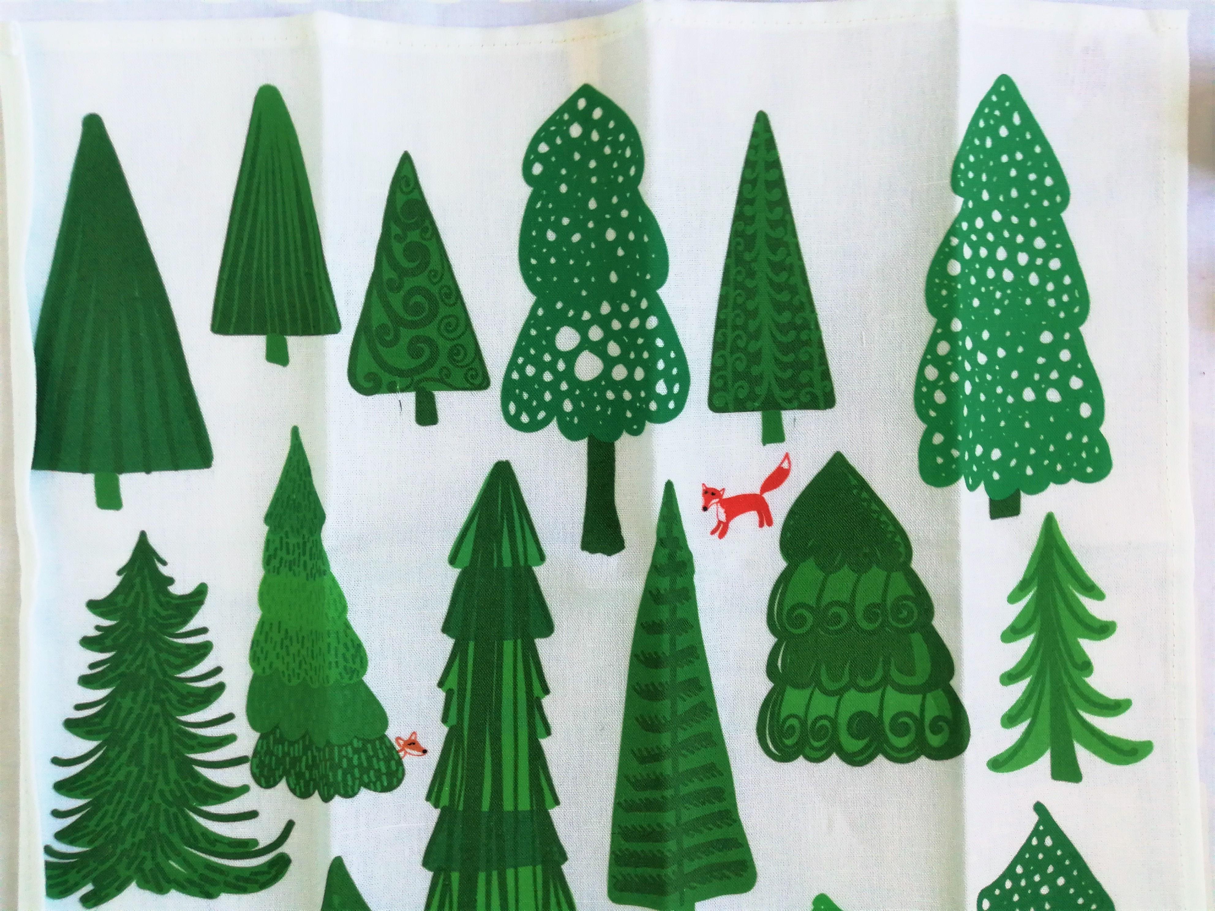 フィンランドの森 ティータオル / Virkkukoukunen ヴィルクコックネン / フィンランド