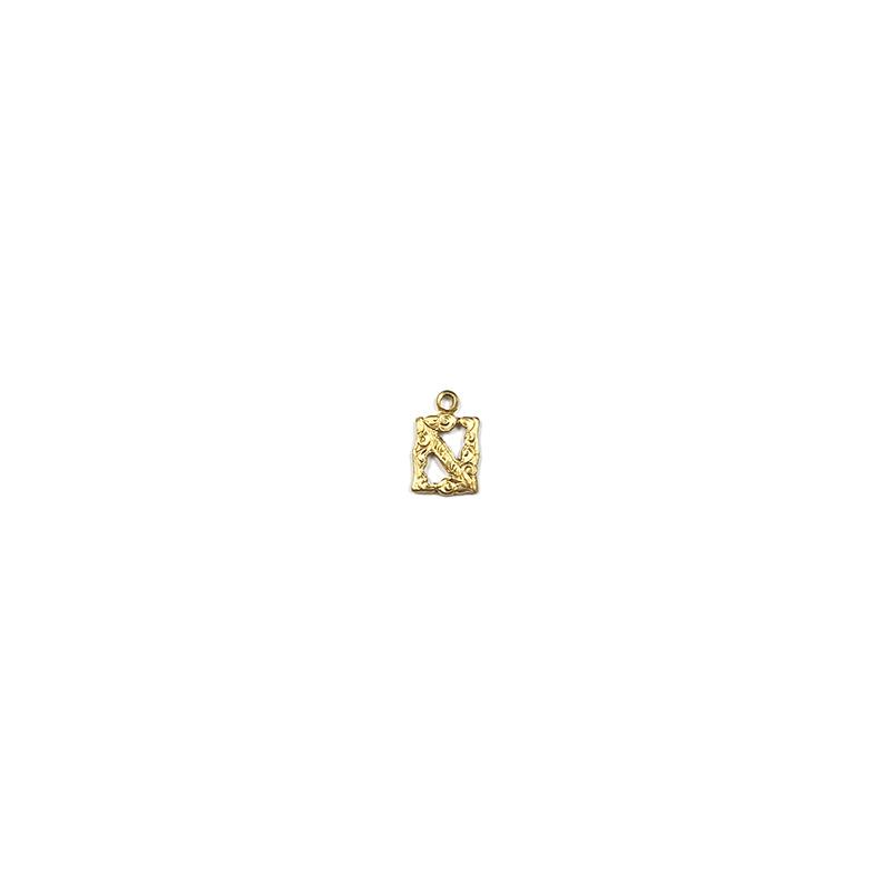【70%OFF】アルファベット装飾N