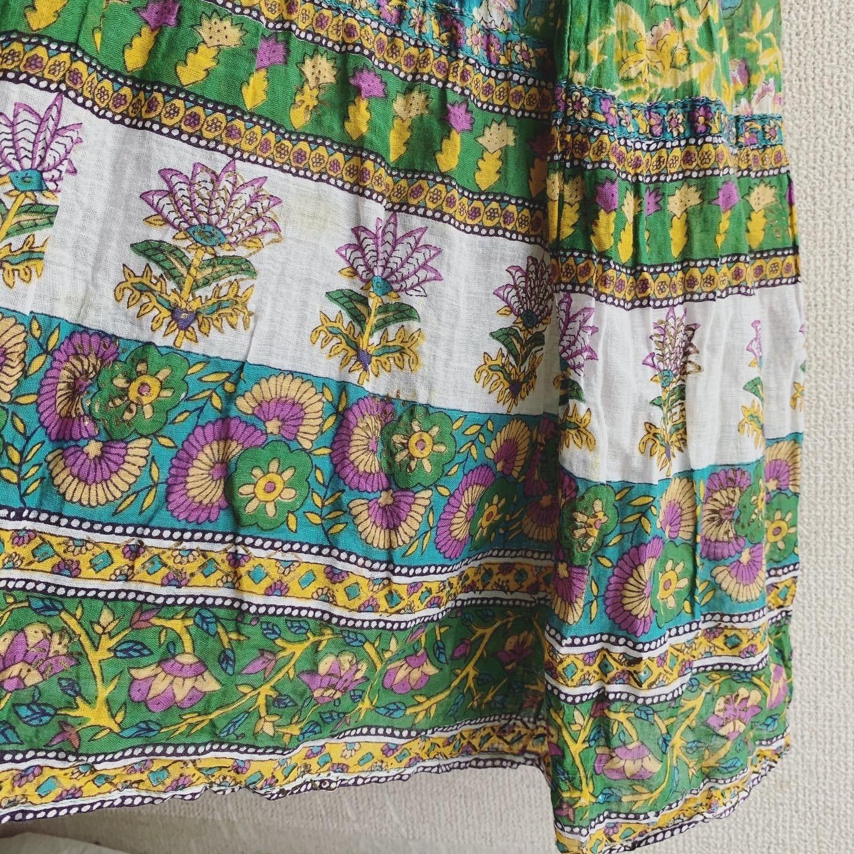 vintage 70s indian cotton onepiece