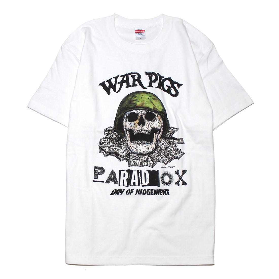 "PARADOX ""WAR PIGS"" S/S Tee  [WHITE]"