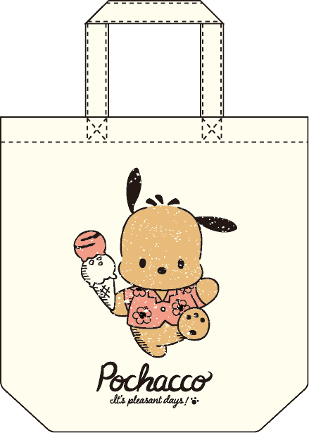 ポチャッコ cafe 限定コラボトートバッグ(アイスクリームタイプ)