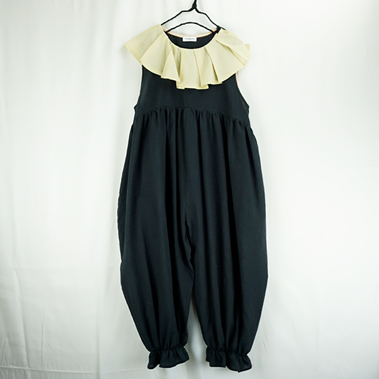 PLEATS COLLAR OVERALL DYED / WOMEN