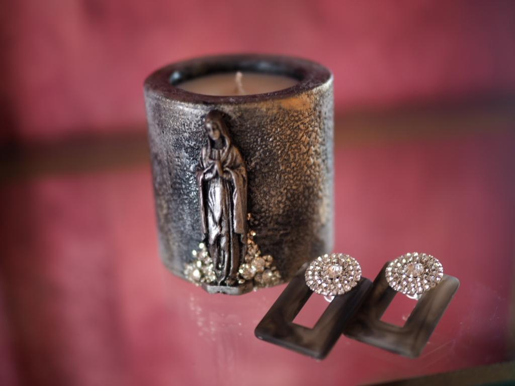 Vintage candle & earclip (collaboration set 5)