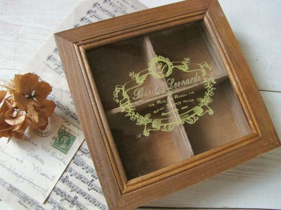 アンティーク調*コレクションボックス 仕切り板付き/セレクト雑貨