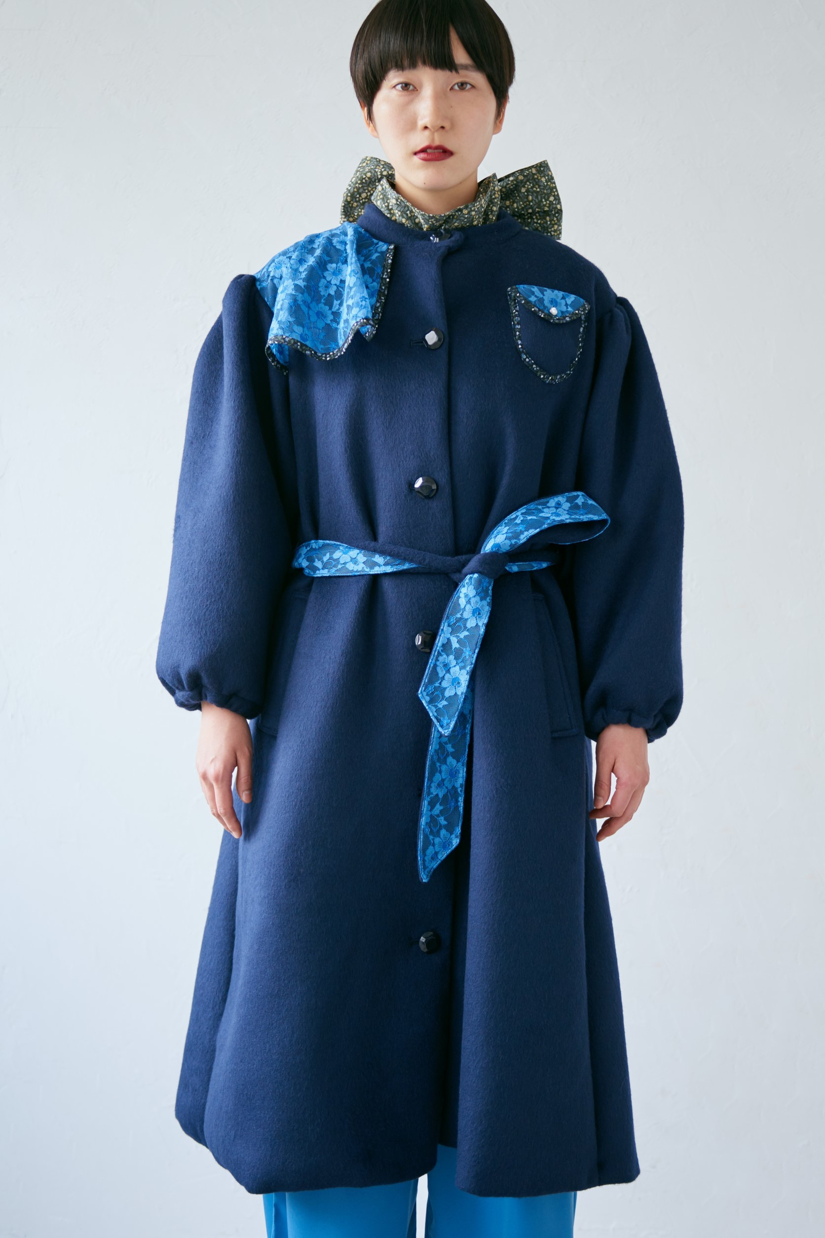 18AW blue calm race coat 〈Dark blue〉