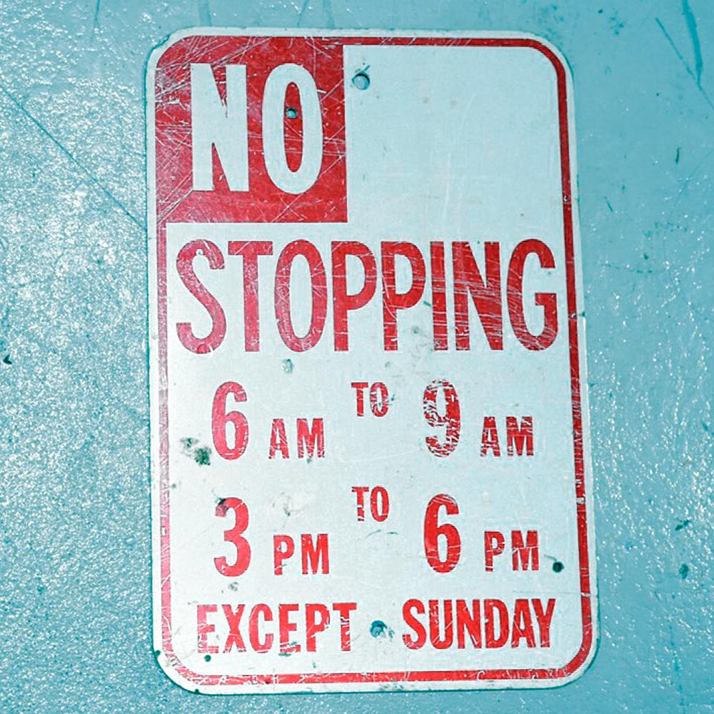 NO STOPPING アメリカンロードサイン 道路標識