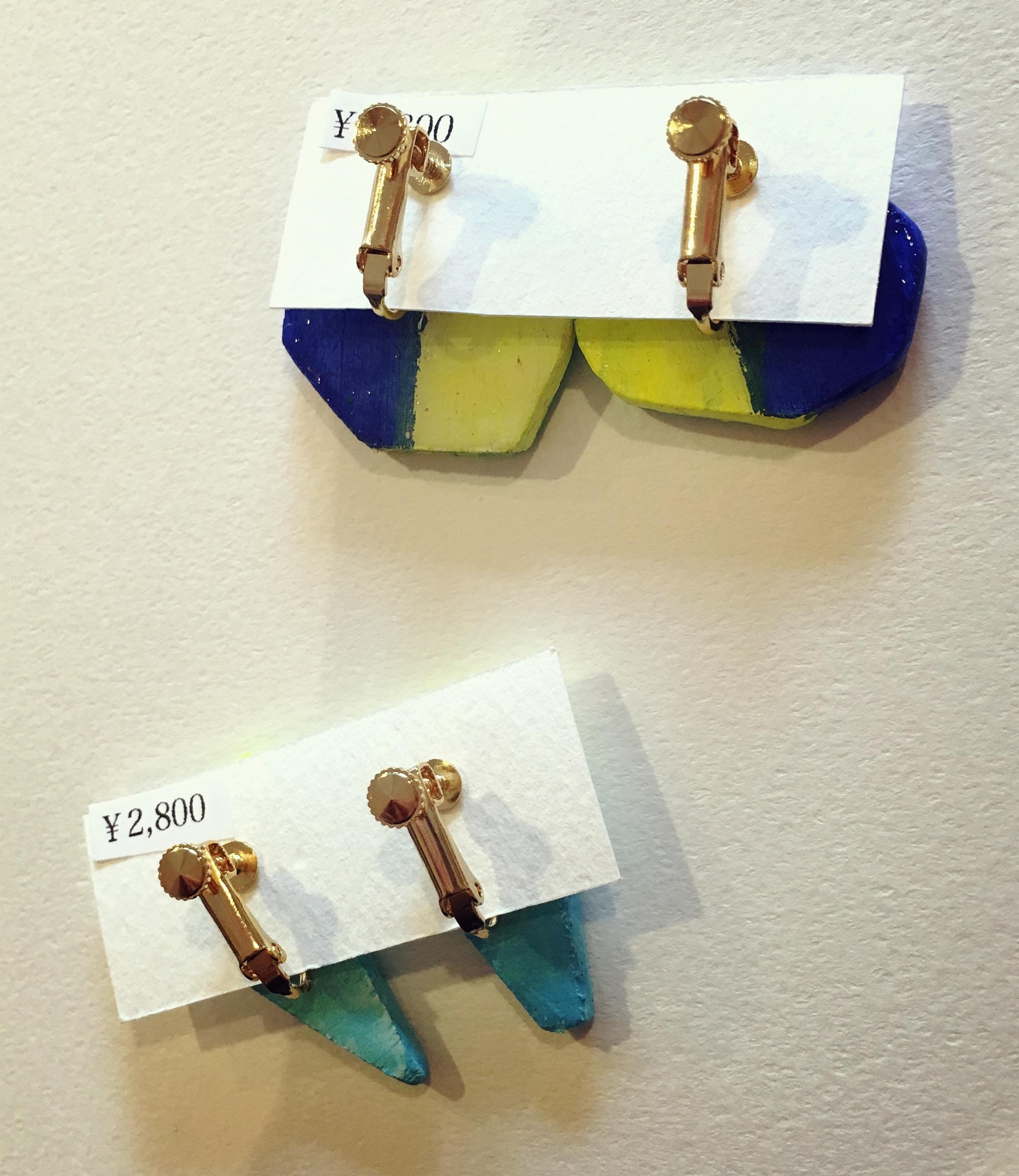 nakki  木のイヤリング
