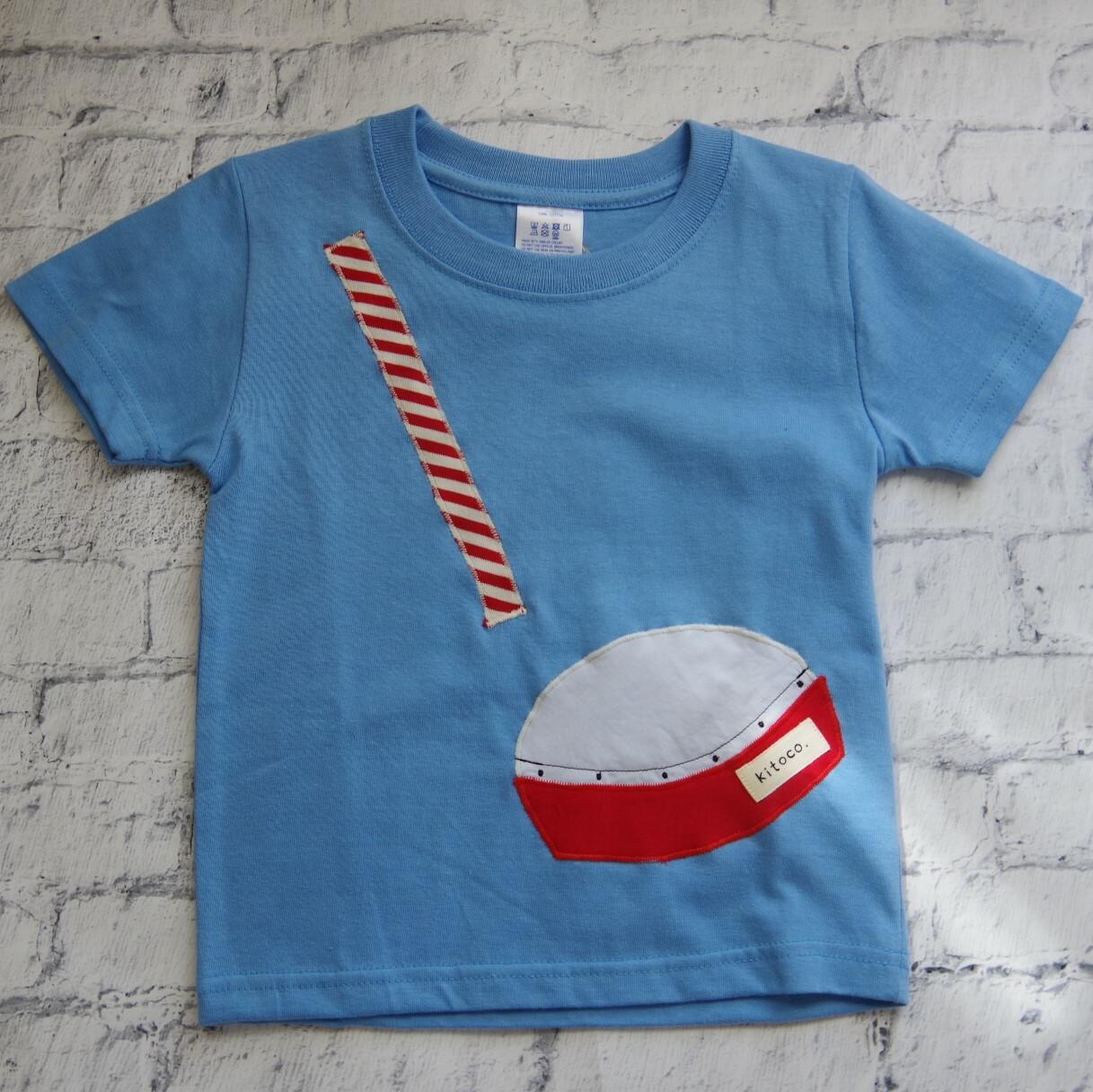 【kitoco.】アップリケのキッズTシャツ(エイサー・100サイズ)
