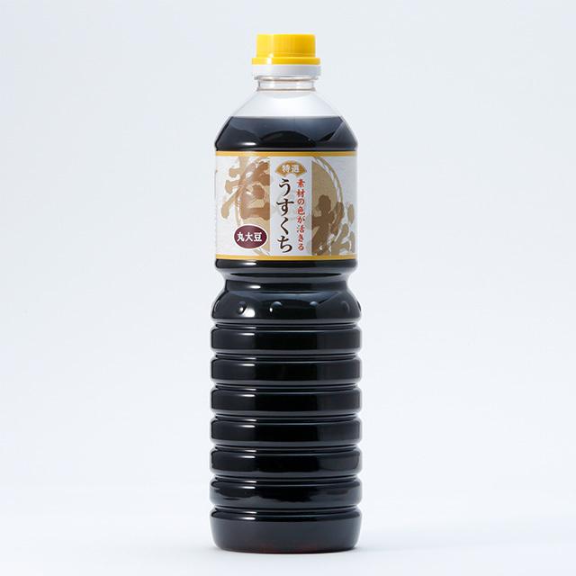 老松 うすくち醤油【1リットル】 - 画像1