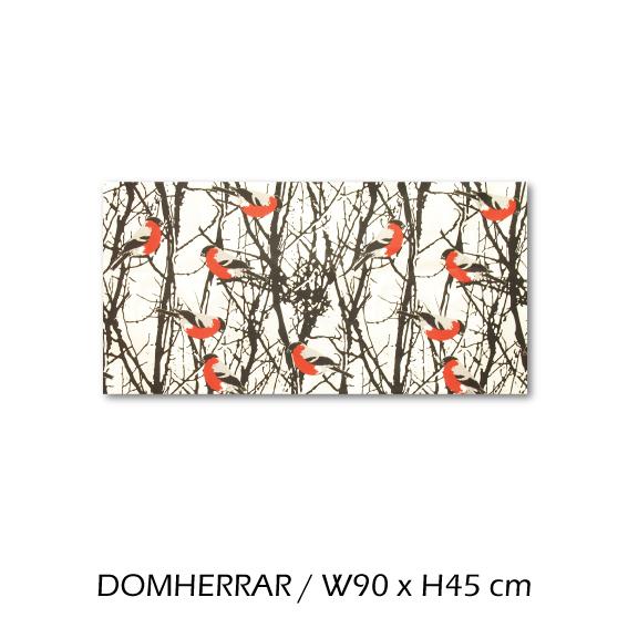 北欧生地 ファブリックパネル 横90 cm x 縦45 cm almedahls DOMHERRAR 受注販売商品 (84157)