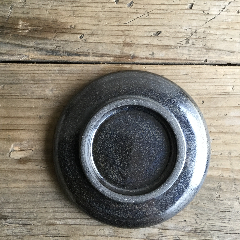 【大内瑤子】豆皿 鉄黒  約φ9.5cm - 画像3