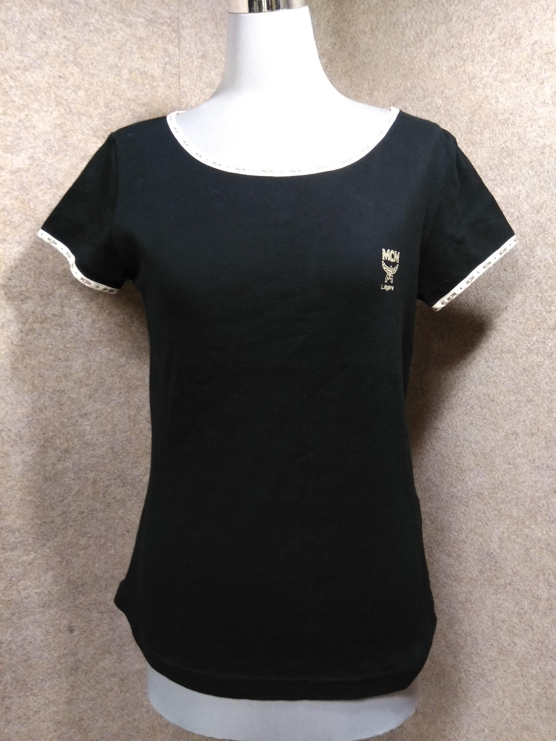 MCM エムシーエム Tシャツ M 黒 u1147a