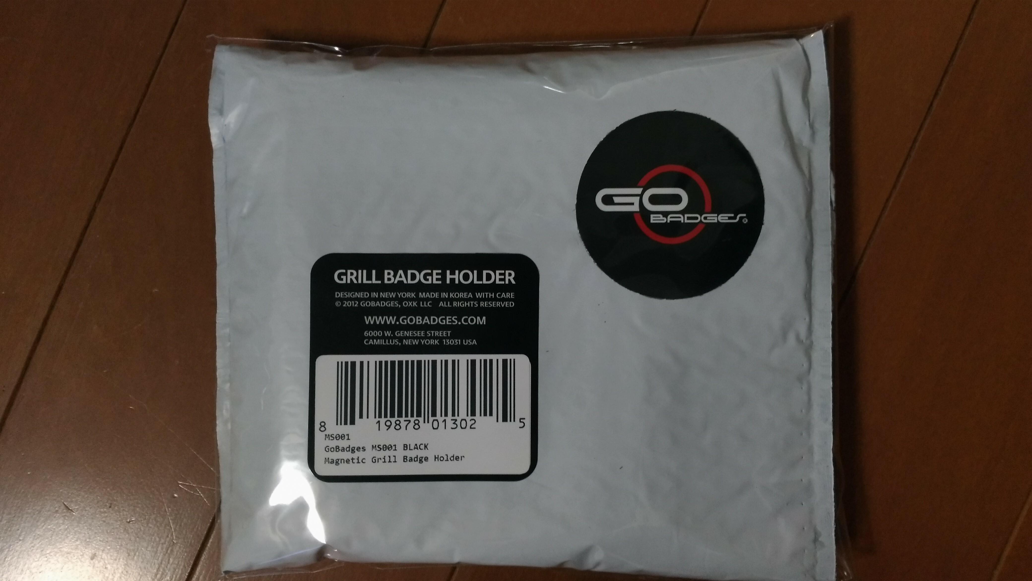 ゴーバッジ グリルバッジホルダー(黒) - 画像1