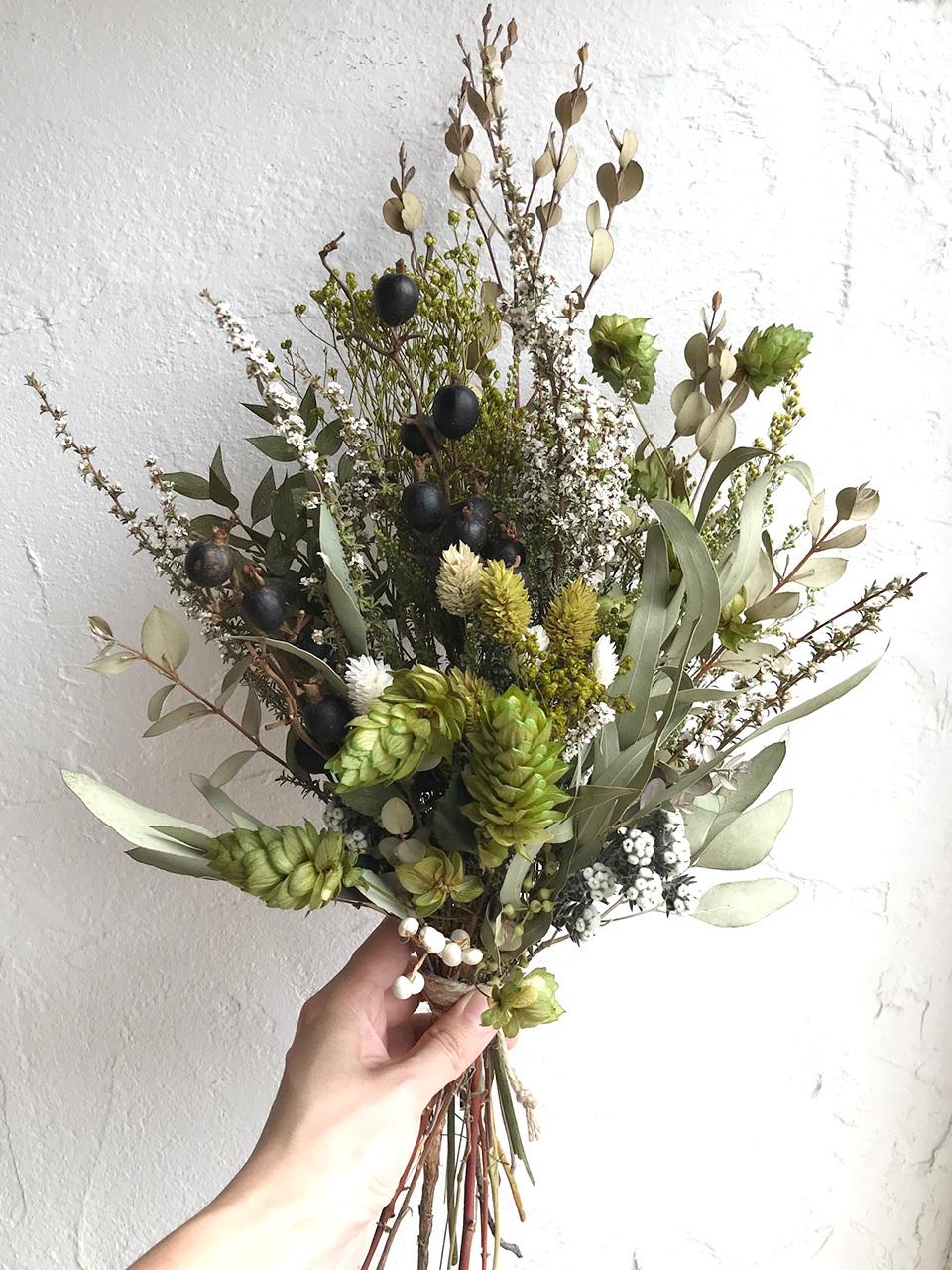 おまかせドライフラワー オーダースワッグ 花束 Mサイズ