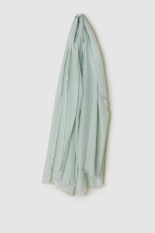 綿シルクスカーフ PALE GREEN