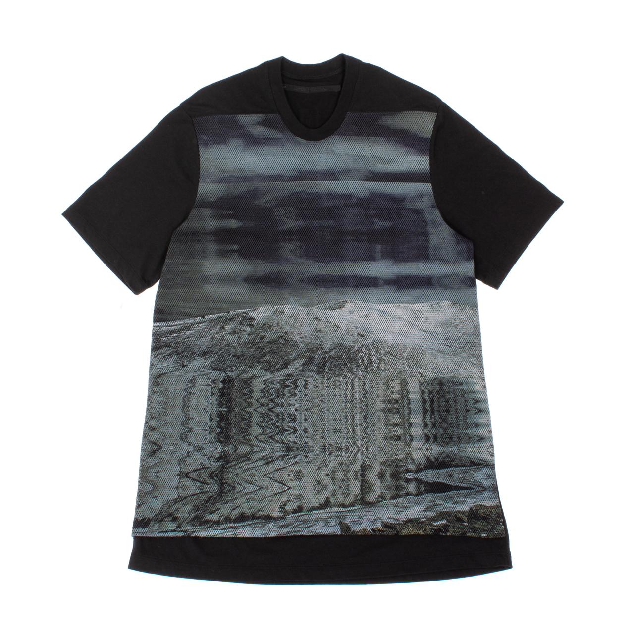 707CUM8-P-BLACK / アバランチメッシュプリントTシャツ