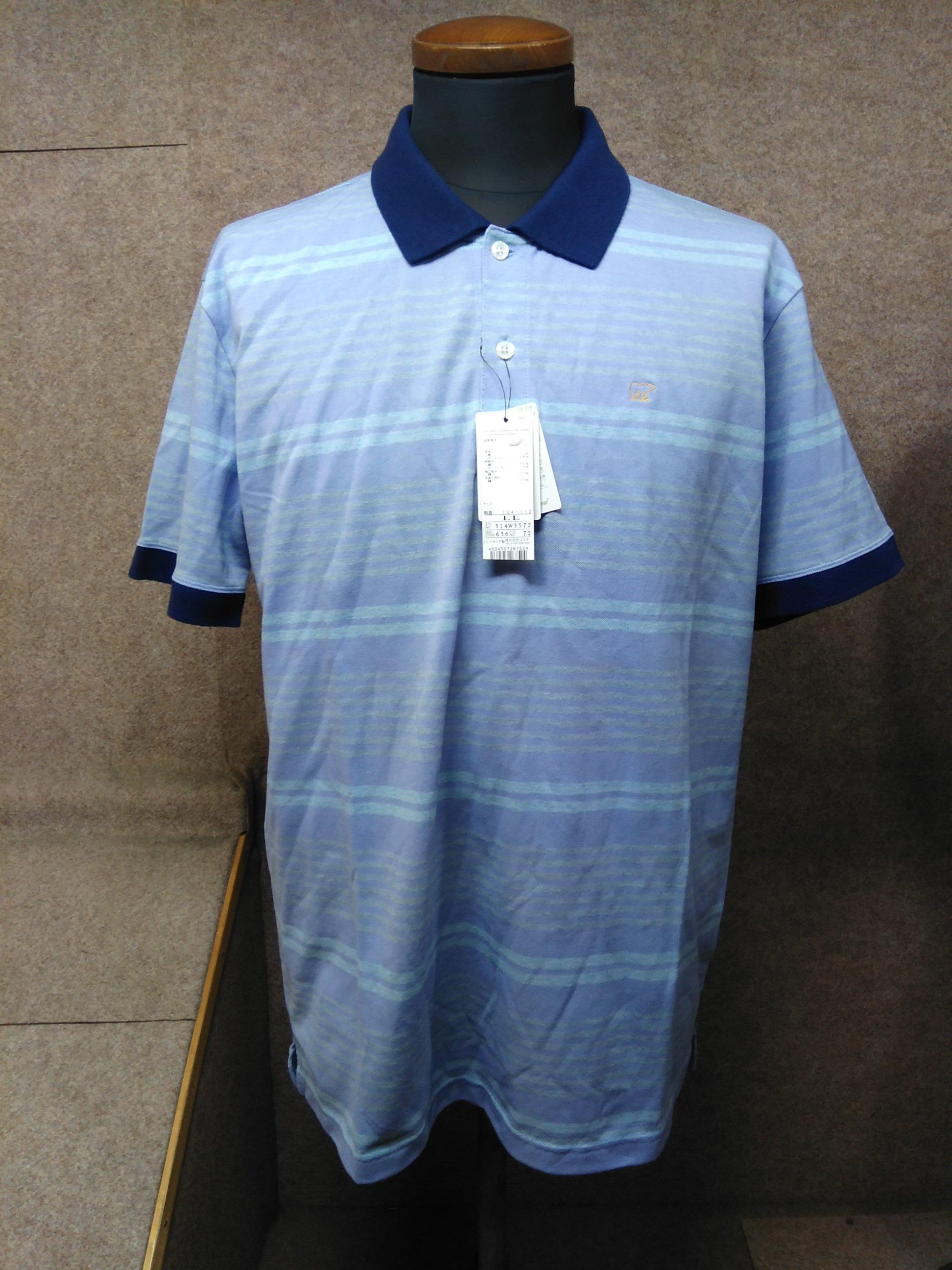 ゴールデンベア メンズ ポロシャツ LL ライトパープル系 my626e