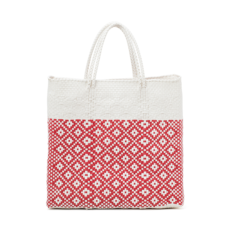 MERCADO BAG 2TONE - White x Red (M)