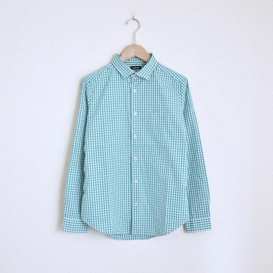 maindish SMALL POCKET CHECK SHIRTS / GREEN