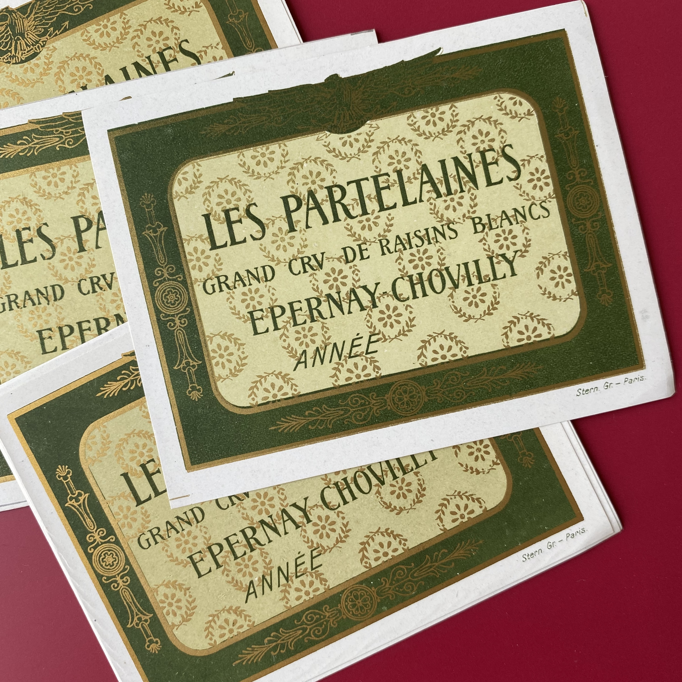 France アンティーク・アルコールラベル(LES PARTELAINES ) /  vp0088