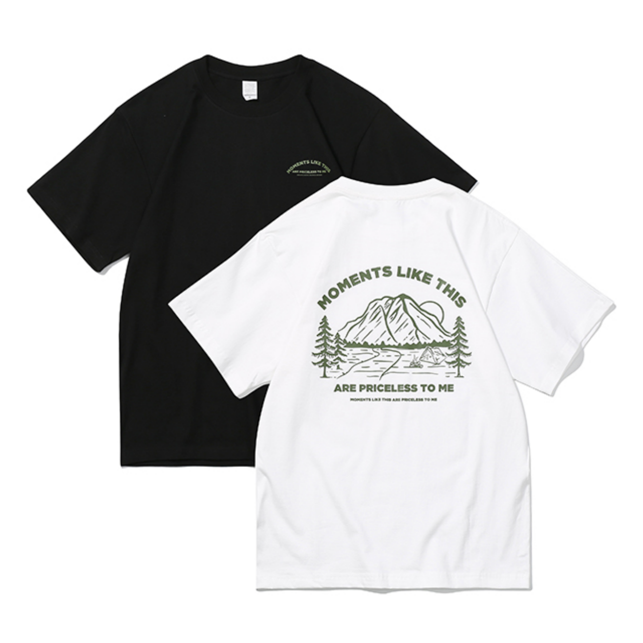 """【UNISEX】""""MOMENTS LIKE THIS"""" ショートスリーブ キャンプ TEE【2colors】UN-571"""