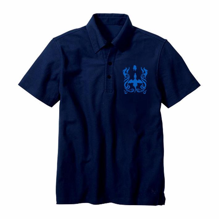 ドラゴンスピリット ポロシャツ 「Single Head Polo-Shirt」-NAVY- / GAMES GLORIOUS