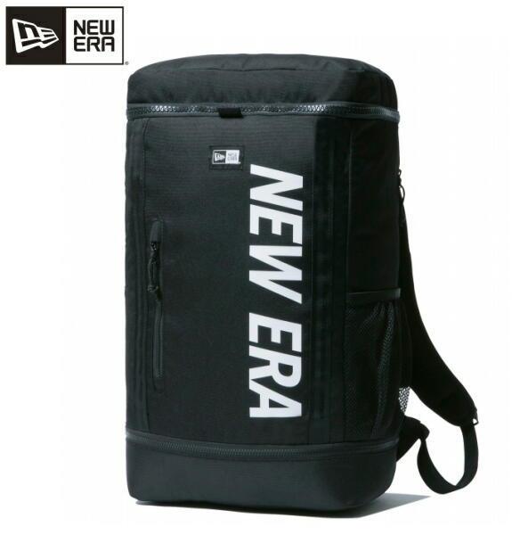 ニューエラ NEW ERA リュック メンズリュック デイパック ボックスパック プリントロゴ ブラック × ホワイト