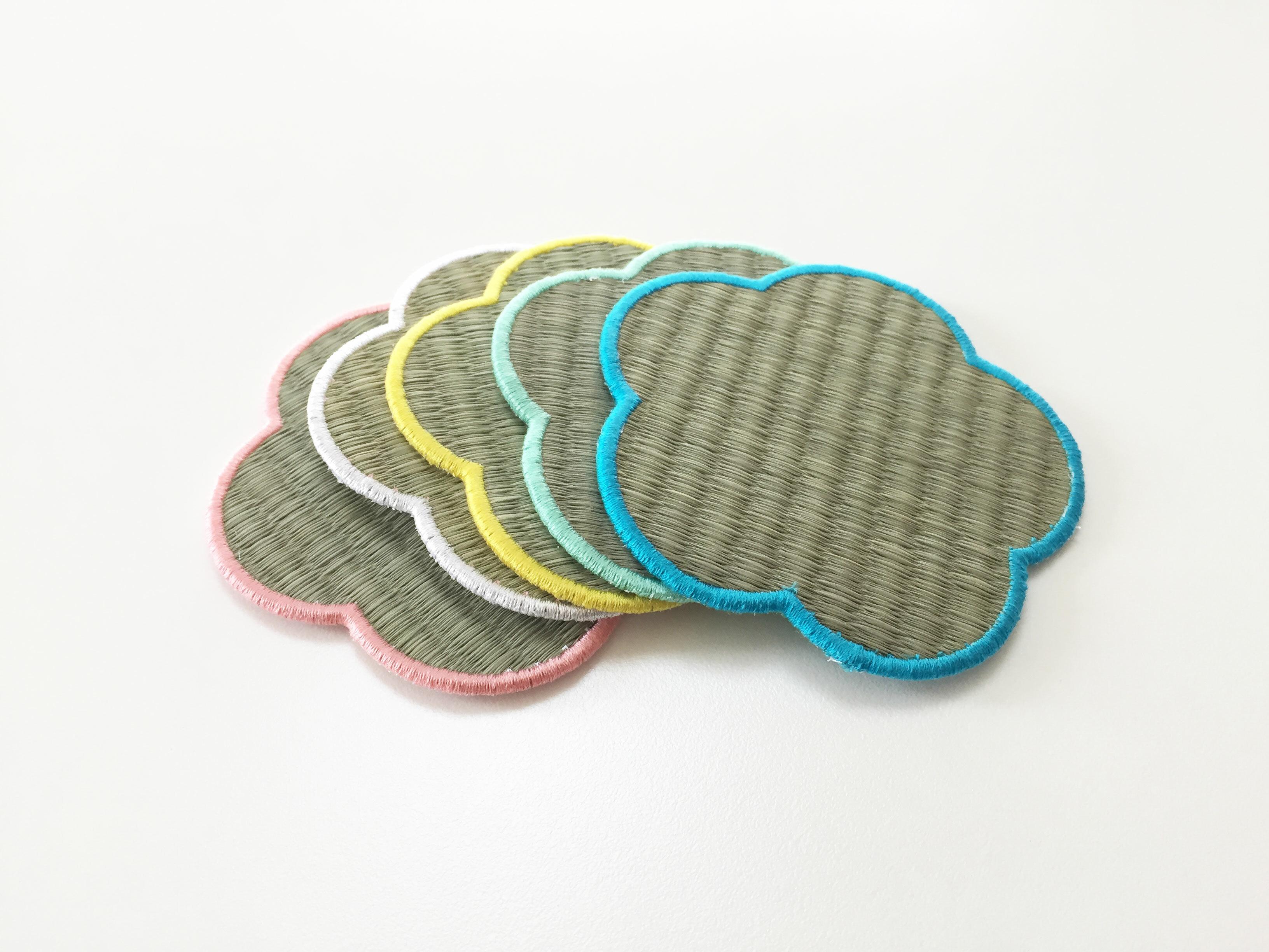 【Tatapi】梅畳コースター 5枚セット (5色カラー)