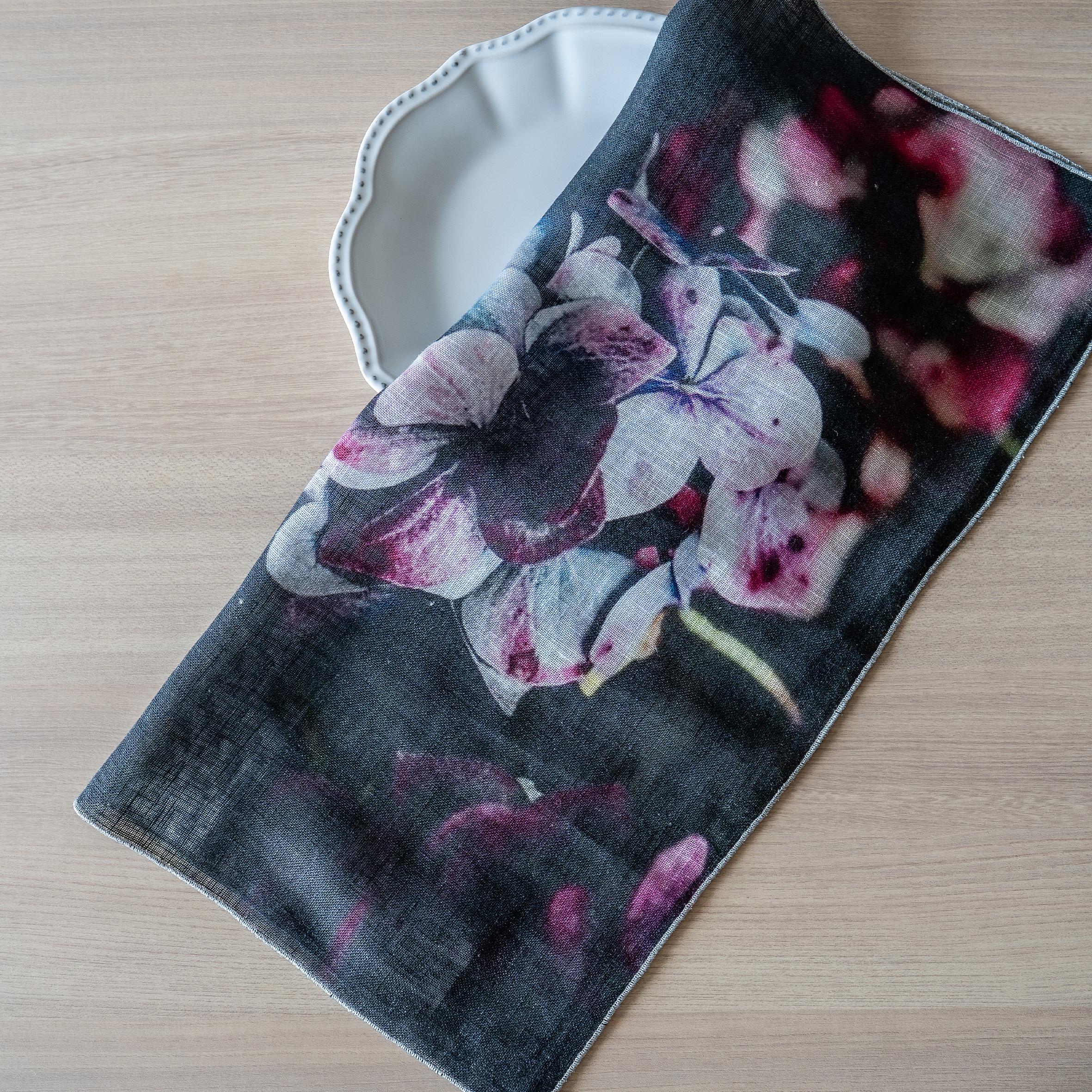 ボルゴ ピュアリネンガーゼナプキン - Petali Ombre( BORGO Pure linen gauze napkin )