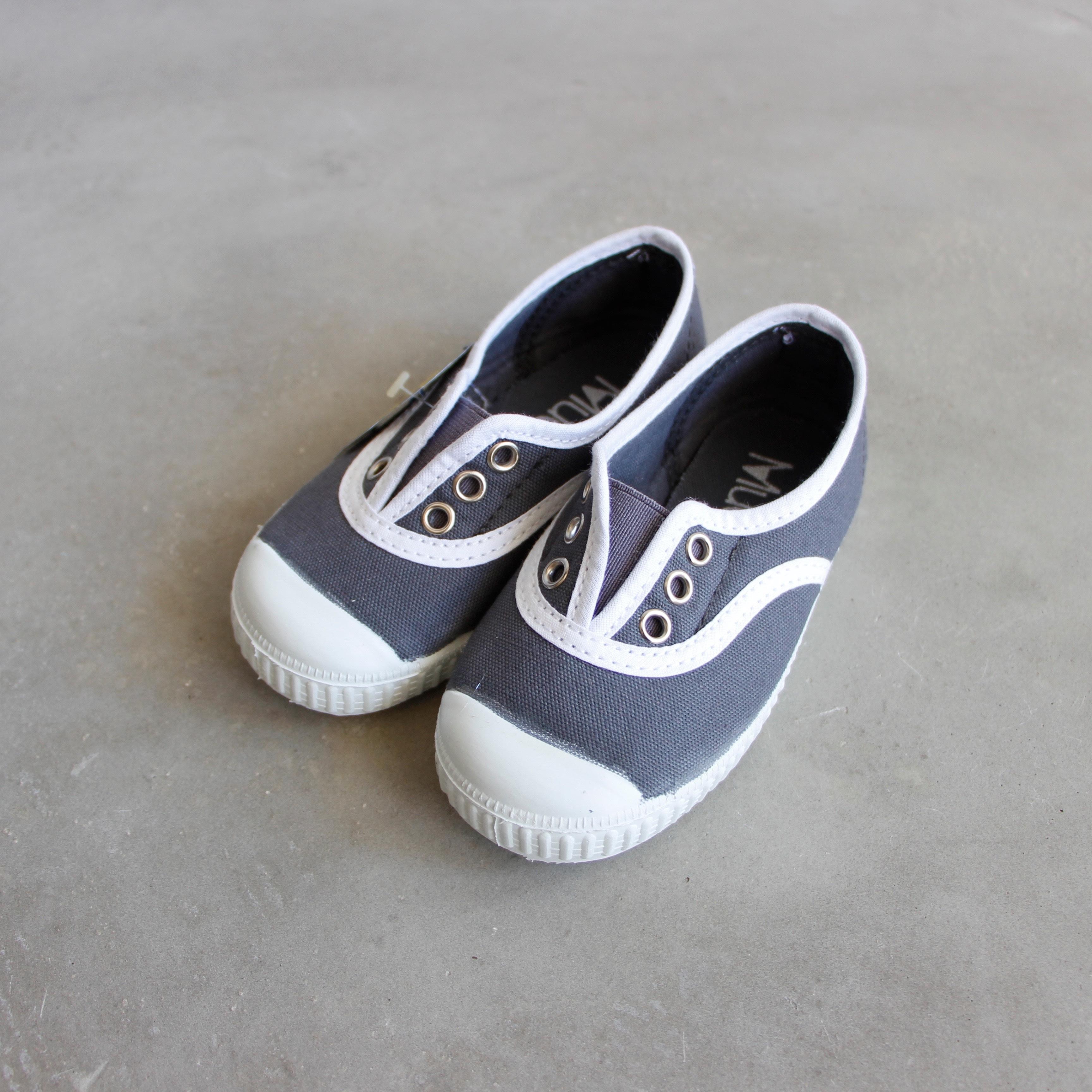 《LA CADENA》INGLES ELASTICO P / gris(white trim) / 23-27(14-17cm)