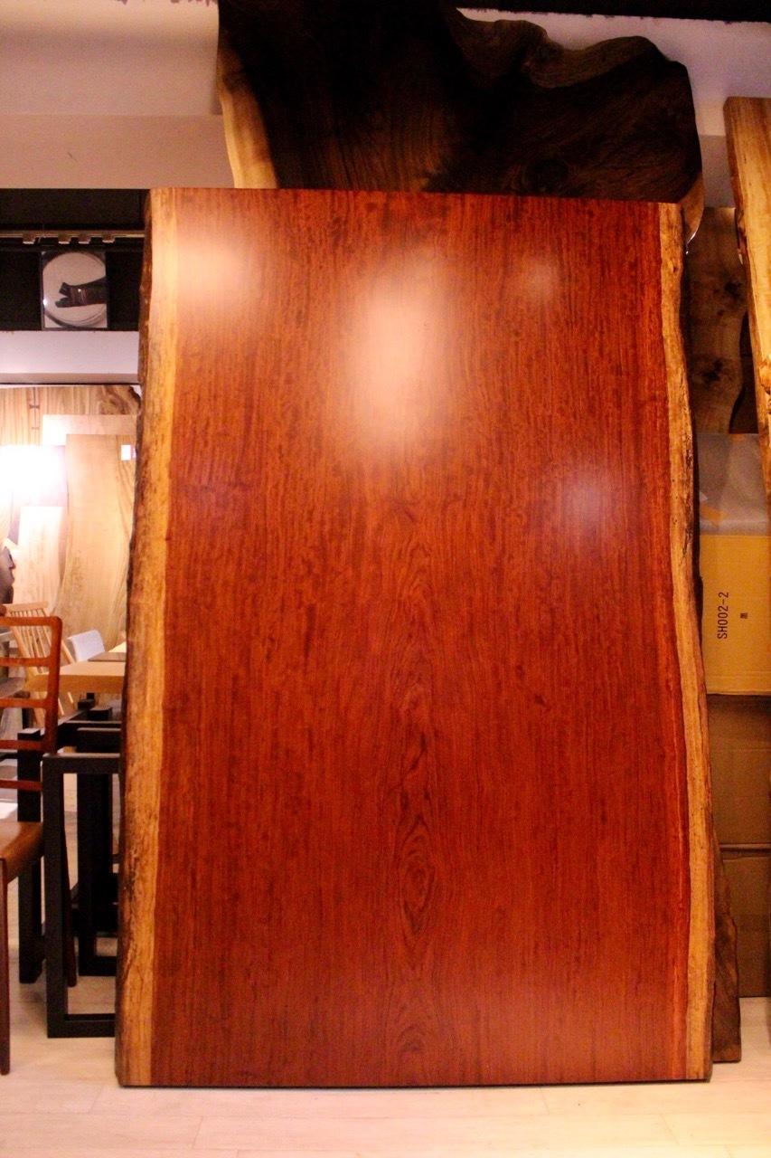 ≪浅草店≫ブビンガ 大判 全面杢 一枚板 1980×1235-1250×75 20277