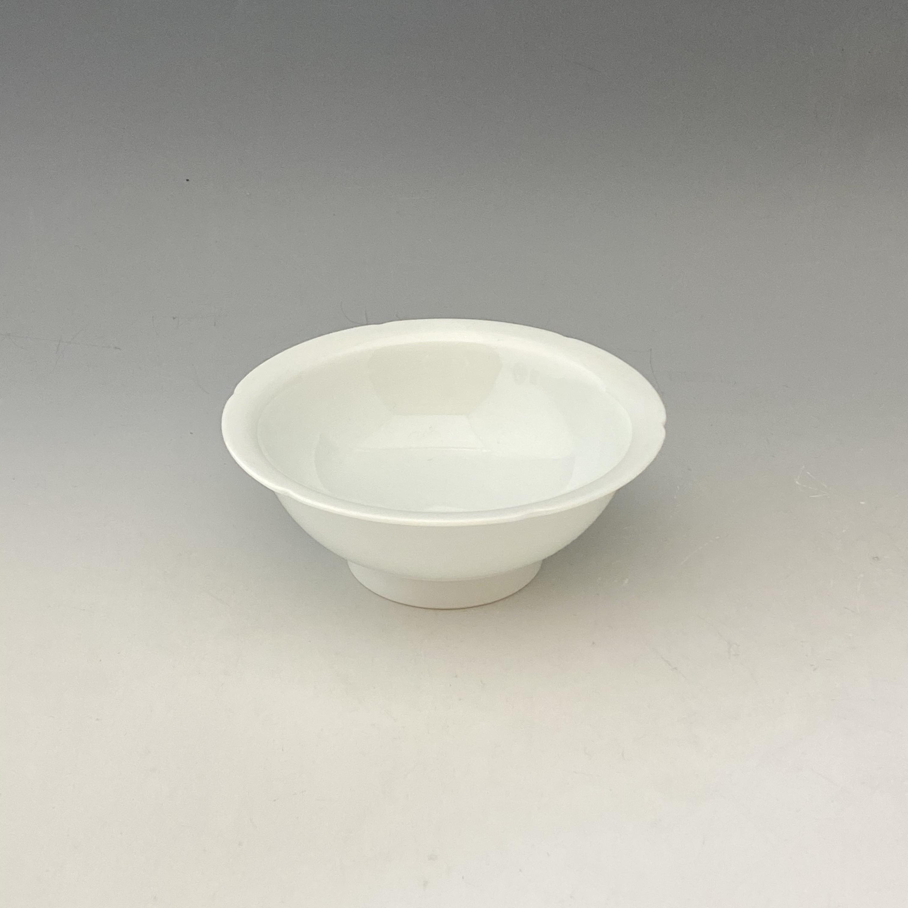 【中尾恭純】白磁縁カット小鉢