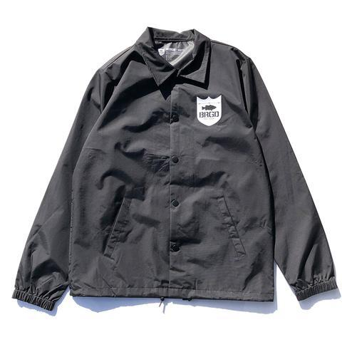 BRGD FRAME COACHES JACKET - BLACK/WHITE -