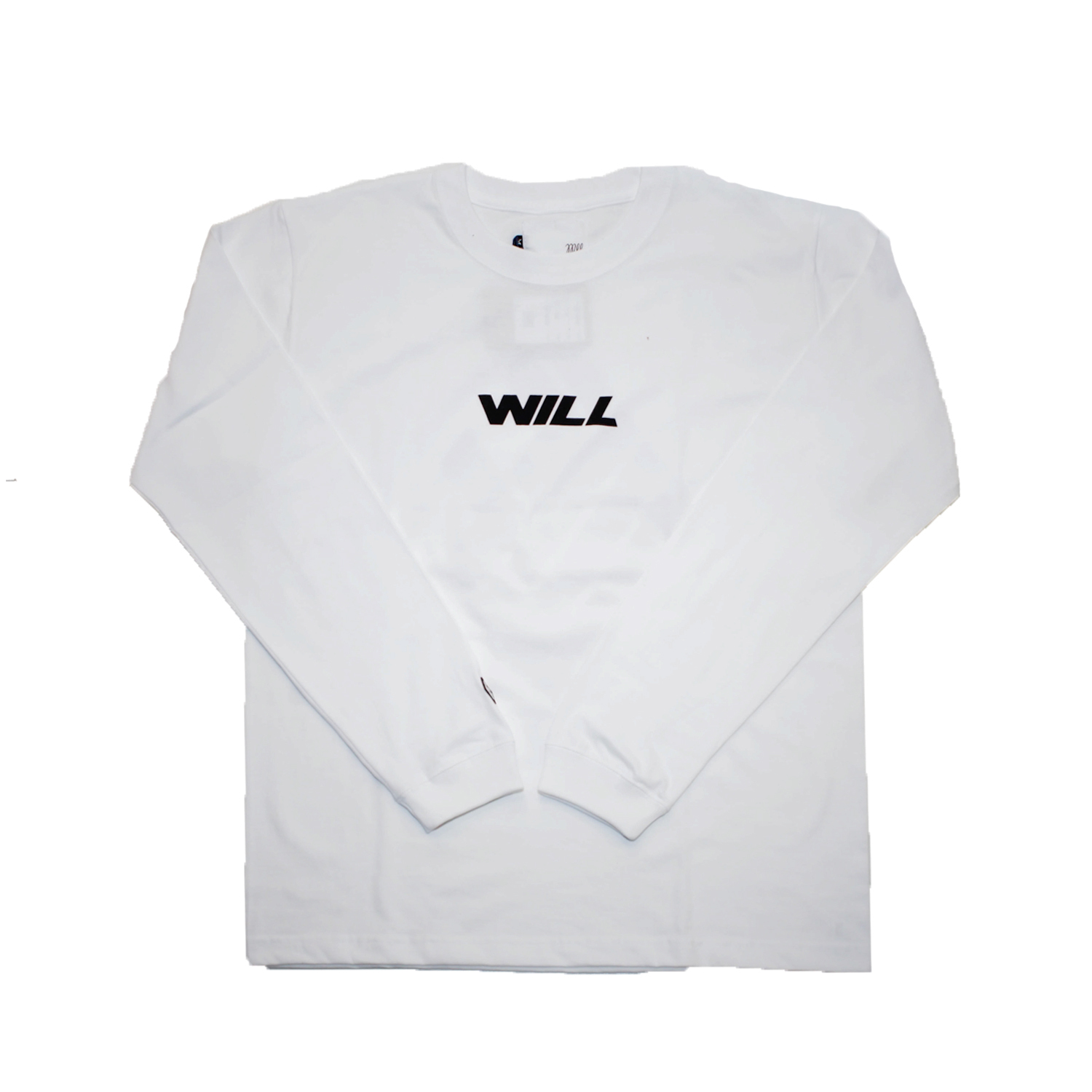 WILL JET LOGO L/S TEE (WHITE)