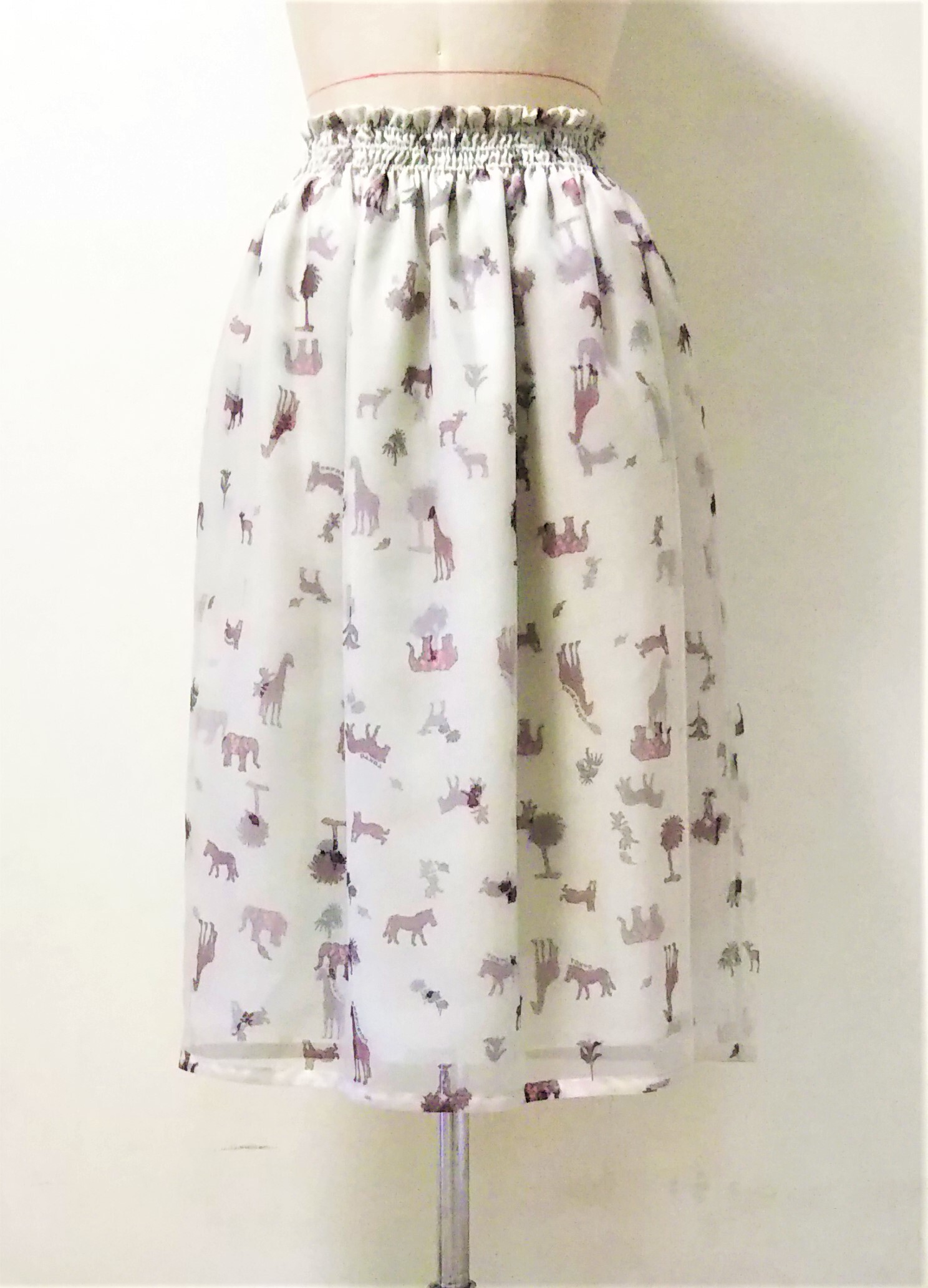 ANIMAL LAYERED COCOON SKIRT