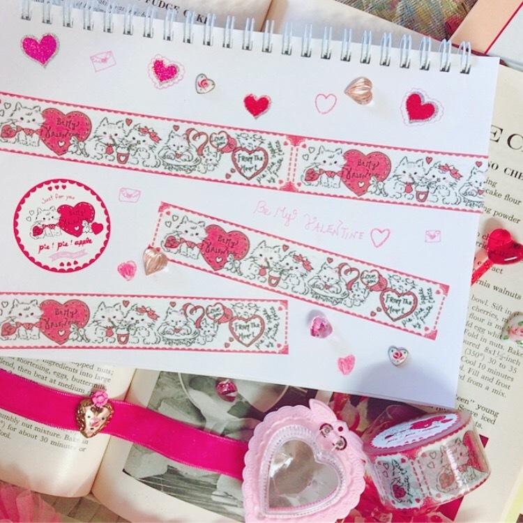 Buttercupちゃんのラブストーリー♡マスキングテープ24mm