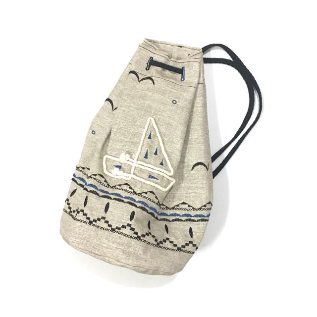 刺繍ビーチバッグ