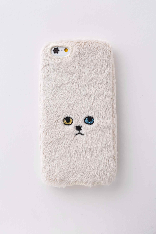 【iPhone6/6S専用】ネコiPhone6/6Sカバー 【ベージュ】