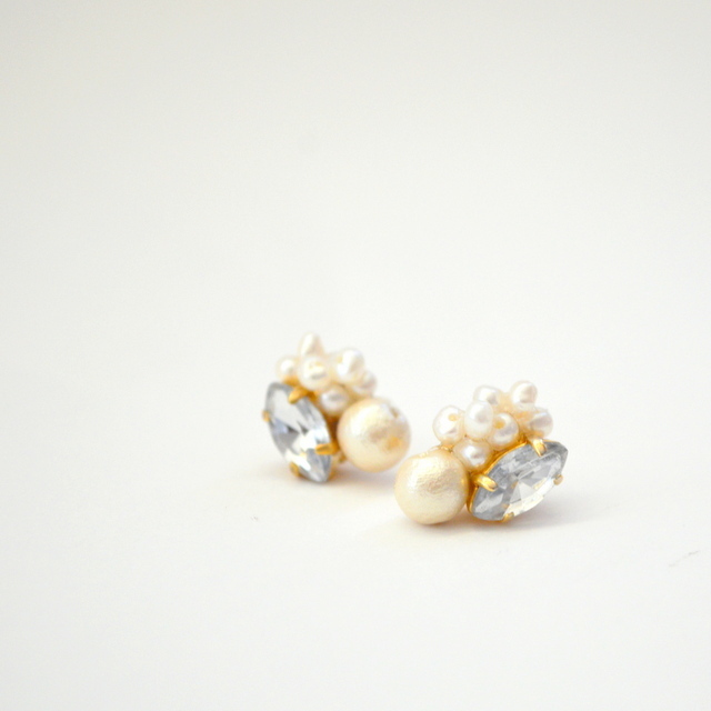 Cotton Pearl bijou Pierce Earring