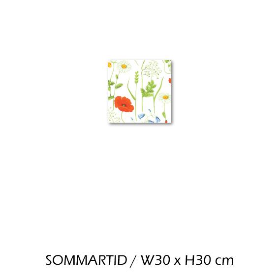 北欧生地 ファブリックパネル 横30 cm x 縦30 cm Kinnamark SOMMARTID 受注販売商品 (100314)
