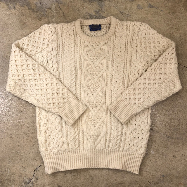 70's Pendleton Cable Sweater ¥8,900+tax