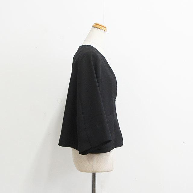 WHYTO. ホワイト ポリエステルオックスジャケット レディース ジャケット 無地 BLACK ブラック 卒園式 卒業式 入学式 結婚式 オケージョン きれいめ 通販 (品番wht19hjk8)