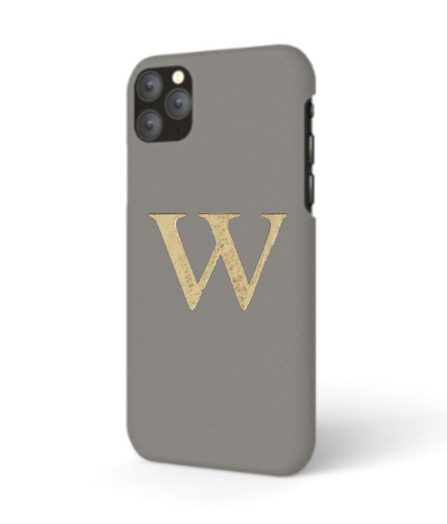 iPhone Premium Smooth Leather Case (Concrete Grey)