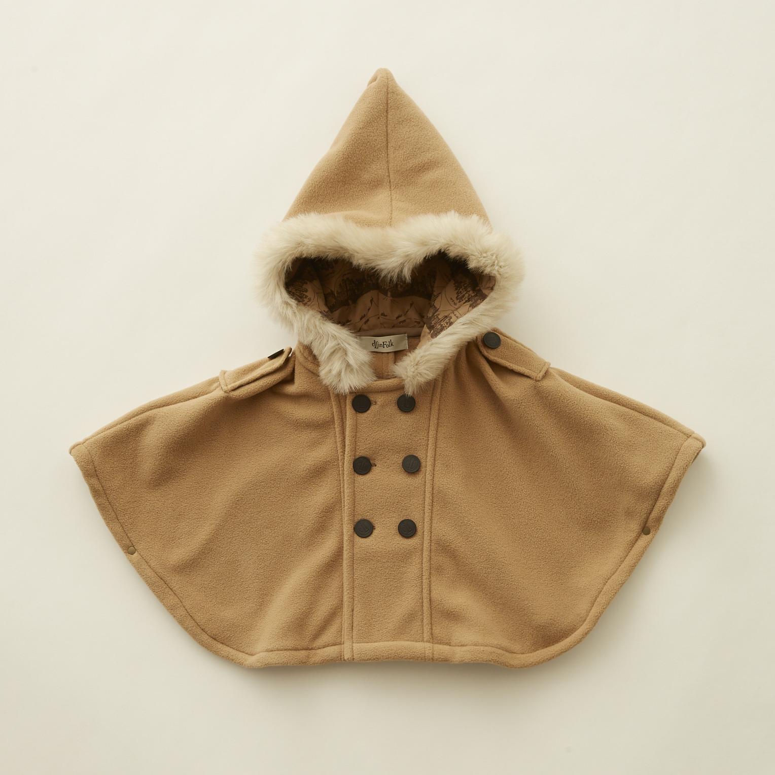 《eLfinFolk 2020AW》freece  baby cape / beige / F(80-100cm)