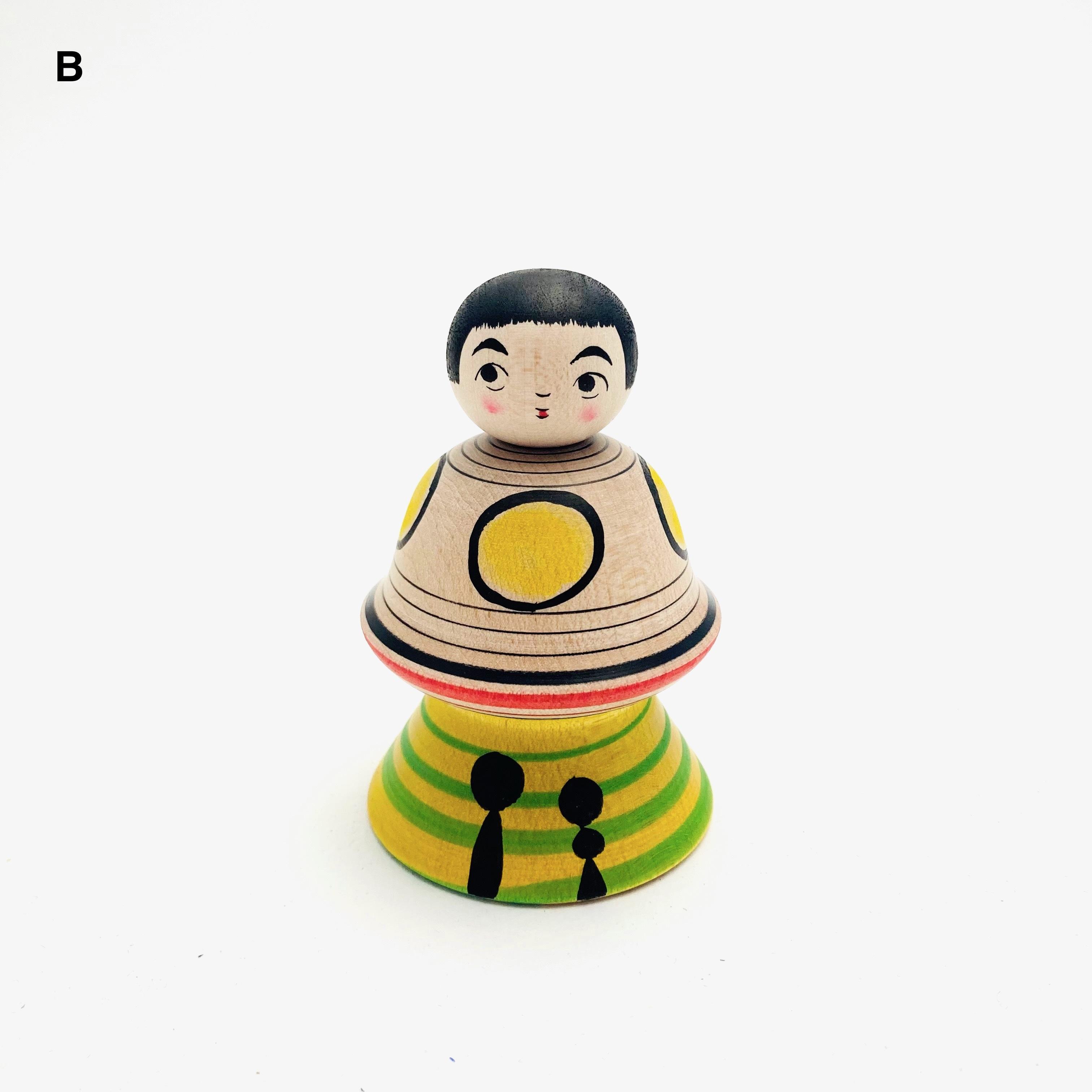 津軽系/長谷川優志工人UFOこけし(小)