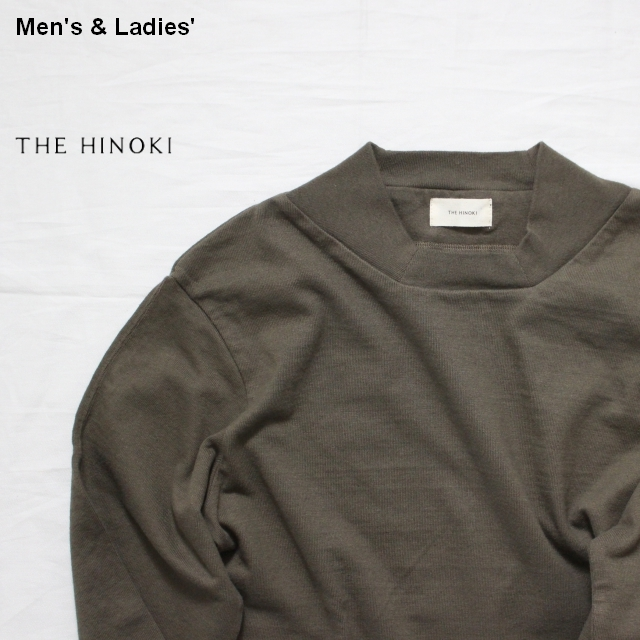 THE HINOKI オーガニックコットンスクエアネックTee L/S (Forest)