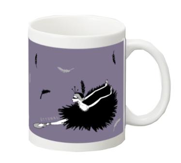 黒鳥 マグカップ - 画像1