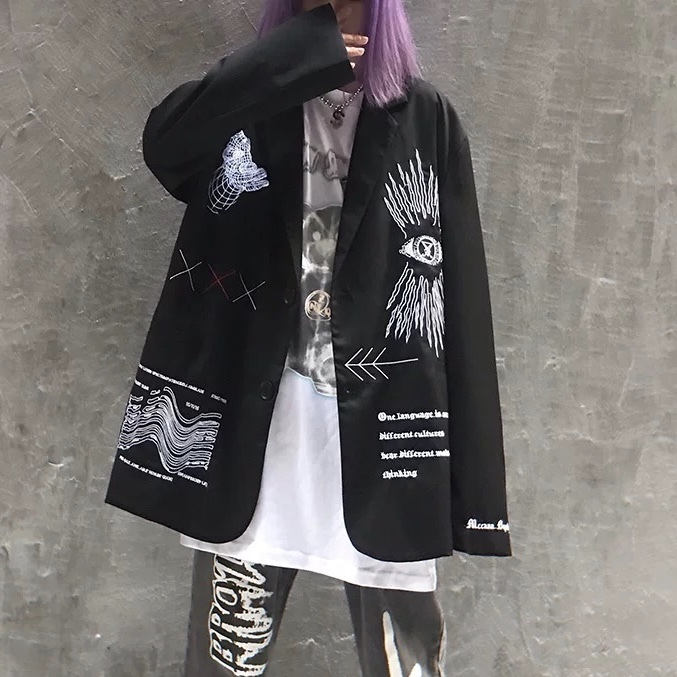 unisex unique graffiti jacket
