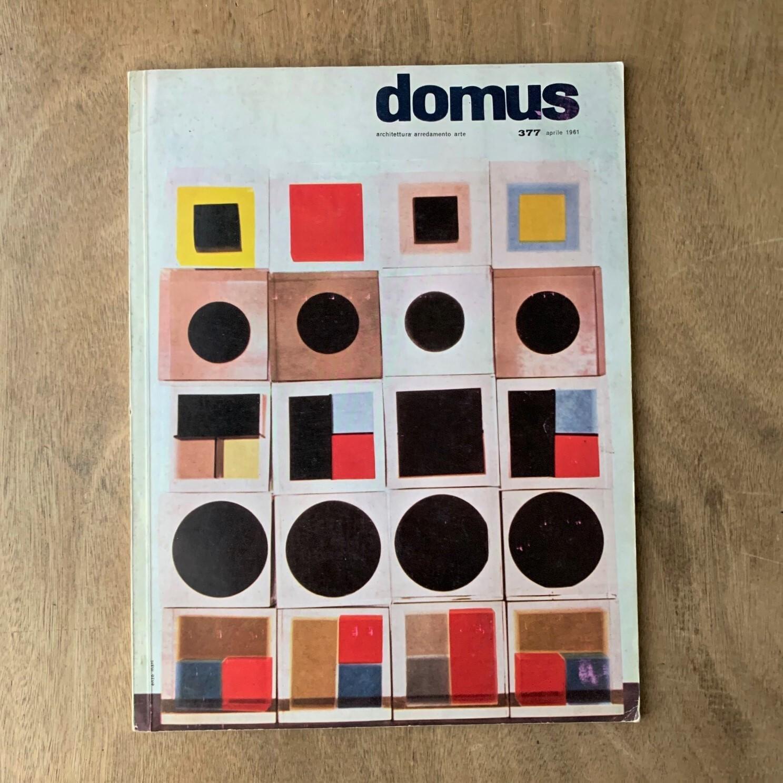 Domus no 377 aprile 1961 / ドムス 377号