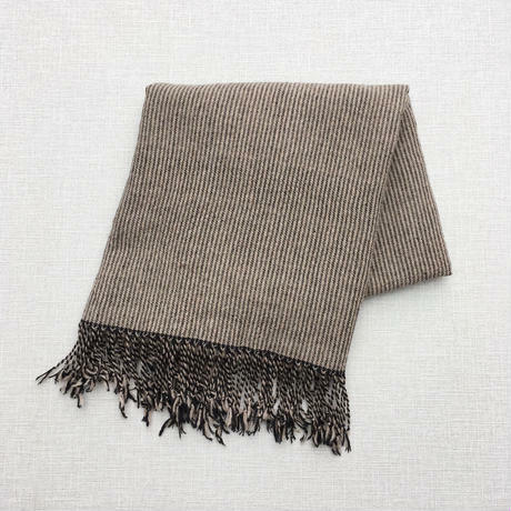 手織りカシミヤラム&シルクショール(Pinstripe ピンストライプ)